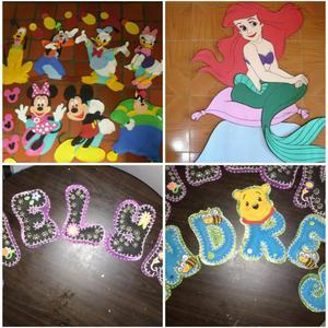 Nombres en foamy decoraciones mu ecos posot class - Decoraciones para bebes ...