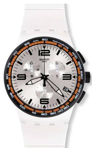 Reloj Blanco Swatch Para Hombres Susw405