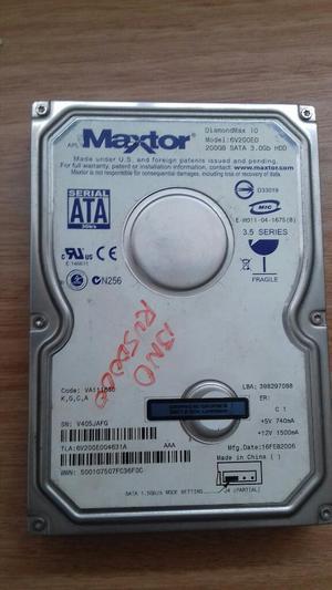 Vendo Disco Duro Maxtor de 200 Gb