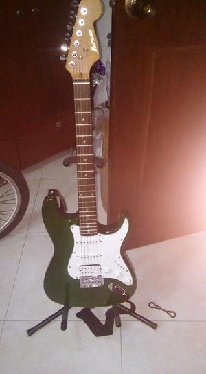 guitarra electrica con amplificador de sonido