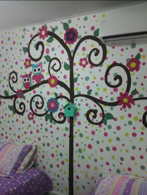 Stickers florecimiento decoracion paredes posot class for Stickers para decorar paredes