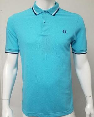 Fred Perry Camiseta Tipo Polo Slim Fit Ref  (azul, M)