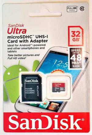 Micro Sd Sandisk De 32 Gb Clase 10