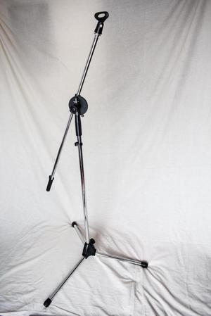 Base cromada para micrófono tipo Boom