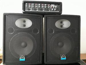 GANGA dos cabinas de sonido PROFESIONAL de 12''