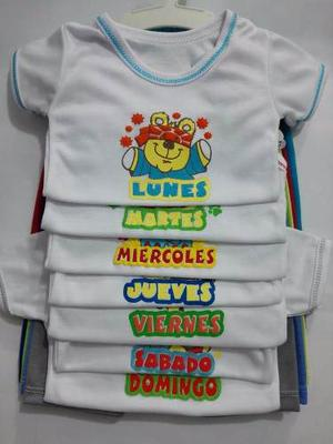 Semanario Para Niño Y Niña - 7 Conjuntos En Colores