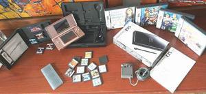 Nintendo Ds Lite Rosa Metalizado Y 20 Películas