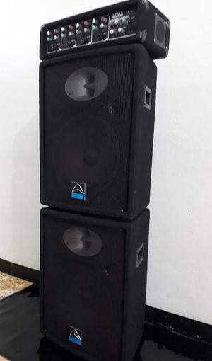 GANGA dos cabinas de sonido 12'' y amplificador