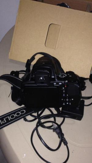 camara nikoncoolpix p900, zoom de 83, wifi, color negro