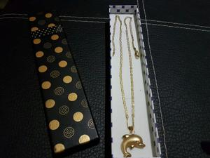 Oro Cadena Tres Oros 18k Italiano Nueva