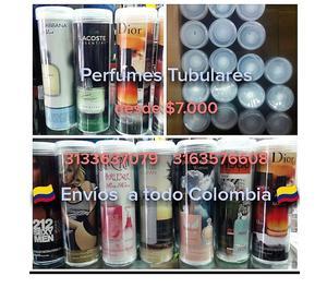 PERFUMES TUBULARES AL POR MAYOR DESDE $