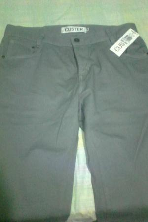 Vendo Pantalon Marca Custer Tipo Dril Color Gris Claro