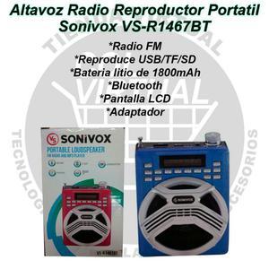 Radio Parlante Sonivox Usb Bluetooth Sd