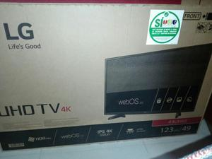 Televisor led Lg de 49 pulgadas 4k Uhd Smart tv wifi sistema