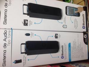 Torre de Sonido Recargable, USB, Bluetooth, FM, Portátil.