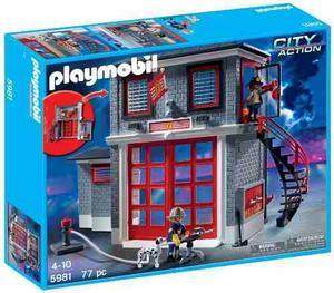 Playmobil Estación De Rescate De Bomberos