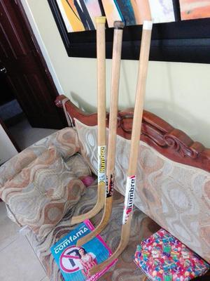 3 Palos de Hockey en Madera de Eeuu