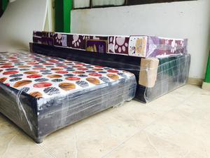 Cama base en madera inmunizada posot class for Cama doble con cama auxiliar
