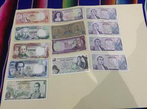 Coleccion de billetes antiguos de Colombia y varios paises