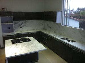 Mesones en granito marmol o quarztone para posot class for Mesones para cocina