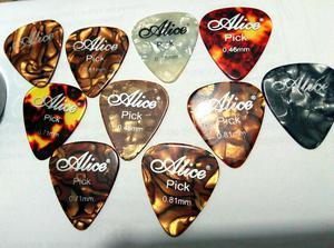 Pick Pua Pluma Guitarra Set X 10