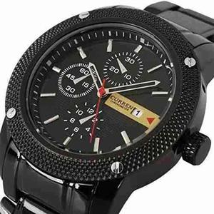 Reloj Curren Negro Para Caballeros Envio Gratis
