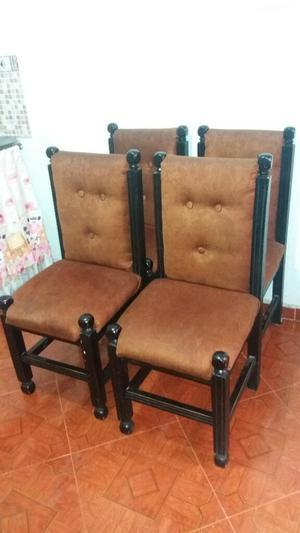 4 sillas color beige baratas posot class for Sillas para comedor baratas