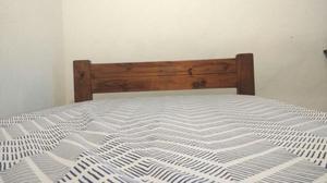 Cama base en madera pino posot class for Colchon cama sencilla