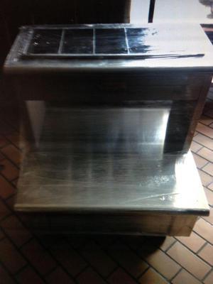 Cubierta para cocina en acero inoxidable posot class for Costo cocina industrial
