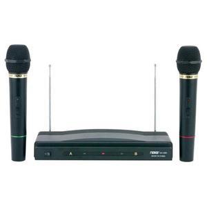 Kit De Micrófonos Inalámbricos Doble Profesional Naxa