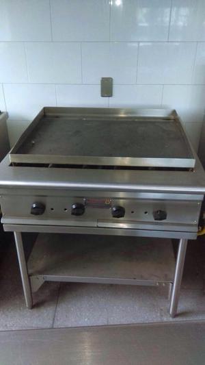 Bater a de cocina swisshome en acero inoxidable posot class for Plancha industrial