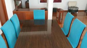 Juego de comedor mesa y sillas cali posot class for Comedor 8 puestos