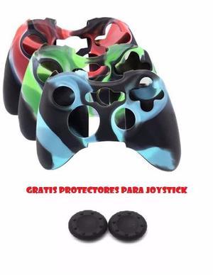 Forro En Silicona Controles Xbox 360 Mas 2 Grips Joysticks