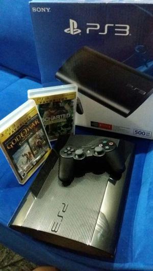 PS3 Super Slim 500GB 2 juegos
