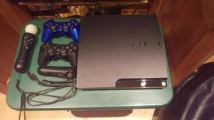 PS3 slim 160gb 2 controles PS move 12 juegos todo en