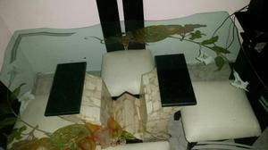 Mesa y 6 sillas comedor vidrio mm base marmol posot class for Comedor 4 puestos vidrio