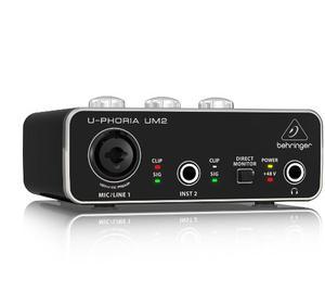 Interface Grabación Usb Behringer Um2 Interfaz Microfono