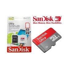 Memoria Micro Sd 64 Gb Sandisk Clase 10 + Adaptador