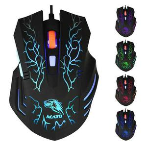 Mouse Gamer  Dpi Usb Pc 5 Colores Cambiantes 6 Botones