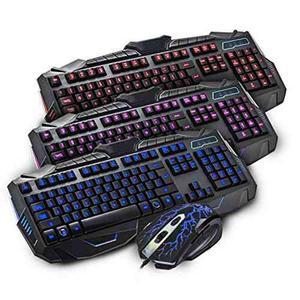 Teclado Gamer Mas Mouse Havit Hv-kb550cm Cambia 3 Colores