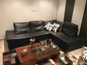 Juego de Sala Sofa en L Mesa de Centro