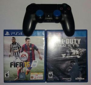 Control de PS4 original y 2 Juegos: Call of Duty Ghosts y