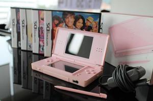 Nintendo DS Lite con 4 juegos originales