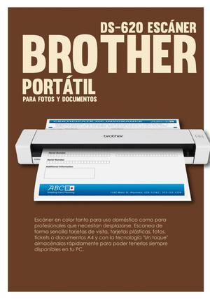 Brother Ds620 Escáner Portátil Para Fotos Y Documentos