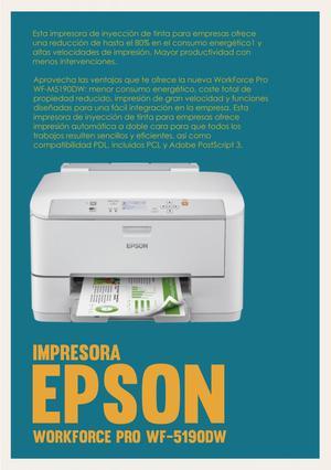 Impresora Epson Workforce Pro Wfdw