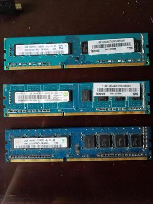 Memoria RAM 4 GB DDR3 2GB DDR2