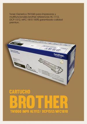 Toner O Cartucho Brother Tn Impr Hl/ Dcp/mfc