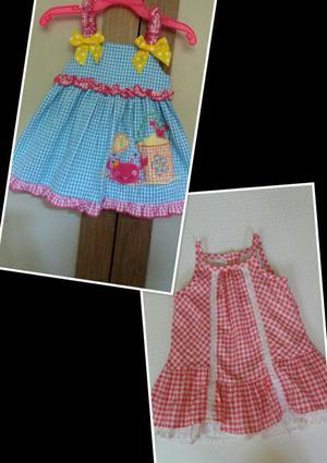 2 Vestidos para Niña Talla 12 Meses Ropa Americana Lindos