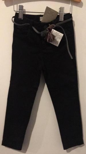 Pantalon Nuevo Zara Negro Talla 4