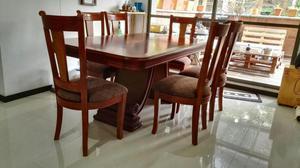 sillas comedor madera 6 puestos posot class